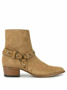 Amiri embellished strap ankle boots - Neutrals