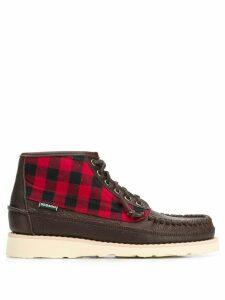 Sebago woven-check loafer boots - Brown
