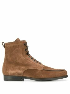 Santoni suede ankle boots - Brown