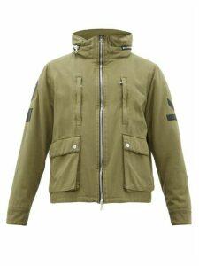 Amiri - Logo Appliqué Cotton Blend Jacket - Mens - Green