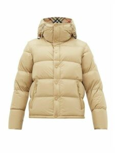 Burberry - Detachable Sleeve Quilted Down Hooded Jacket - Mens - Camel