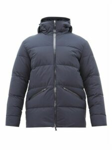 Herno - Laminar Hooded Quilted Down Jacket - Mens - Navy