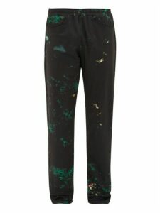 Cottweiler - Cruise Abstract Print Technical Trousers - Mens - Black Green
