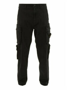 Stone Island - Stretch Cotton Cargo Trousers - Mens - Black