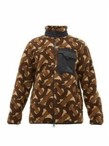 Burberry - Logo Jacquard Fleece Jacket - Mens - Brown