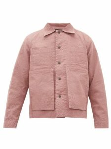 Craig Green - Embroidered Puckered Canvas Jacket - Mens - Pink