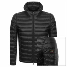 Paul And Shark Quilted Hooded Jacket Black