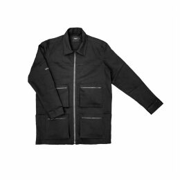 BISKIT - Black Unisex Denim Jacket with Astro Print