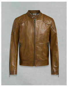 Belstaff Outlaw Leather Jacket Brown UK 34 /