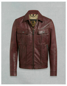 Belstaff LOWELL LEATHER JACKET Red UK 34 /