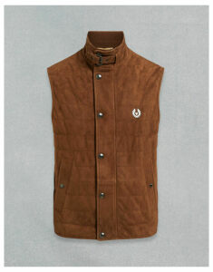 Belstaff DRIVING SUEDE GILET Brown UK 36 /