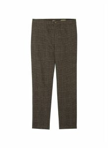 Houndstooth check plaid pants