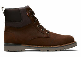 TOMS Waterproof Brown Waxy Suede Rugged Men's Ashland Boots - Size UK7.5