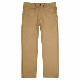 Junya Watanabe MAN Camel Brushed Cotton Straight-leg Trousers