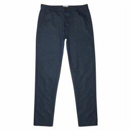 Oliver Spencer Navy Linen Blend Trousers