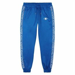 Daily Paper Blue Logo-jacquard Stretch-jersey Sweatpants