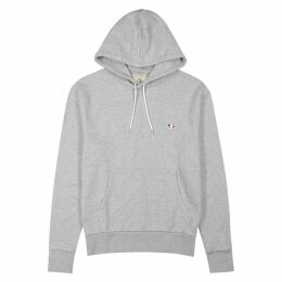 Maison Kitsuné Grey Hooded Cotton Sweatshirt