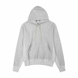 John Elliott Grey Hooded Cotton-blend Sweatshirt
