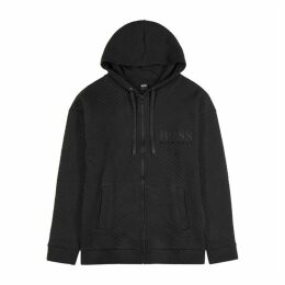 BOSS Black Quilted Cotton Sweatshirt