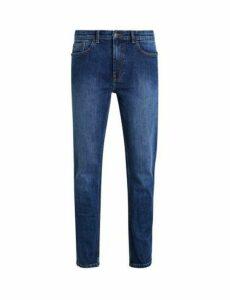 Mens Mid Blue Blake Slim Fit Jeans, Blue