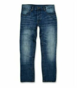 Blue Mid Wash Straight Leg Jeans New Look
