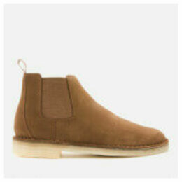 Clarks Originals Men's Suede Desert Chelsea Boots - Cola - UK 7