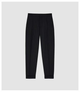Reiss Pape - Pinstriped Straight-leg Trousers in Navy, Mens, Size 38