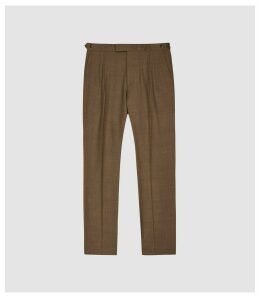Reiss Venture - Brushed Wool Blend Trousers in Camel, Mens, Size 38