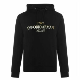 Emporio Armani Gold Print Hooded Sweatshirt