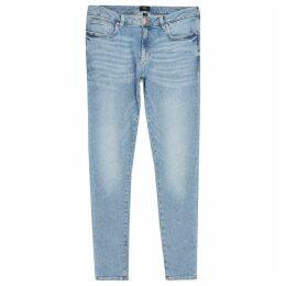 Mens River Island Light Blue Ollie spray on jeans