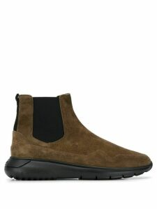 Hogan elasticated panel ankle boots - Brown