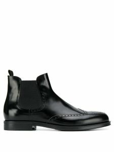 Giorgio Armani patterned slip-on ankle boots - Black