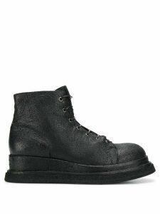 Premiata crackled ankle boots - Black
