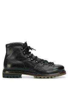 Premiata lace-up ankle boots - Black
