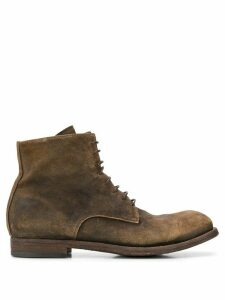 Officine Creative Hunter suede boots - Brown