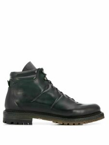 Silvano Sassetti lace-up ankle boots - Green