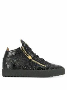 Giuseppe Zanotti Kriss embossed sneakers - Black