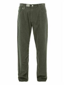Raf Simons - Metal Ring Cotton Corduroy Trousers - Mens - Grey
