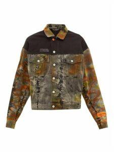 Heron Preston - Стиль Embroidered Tie Dye Denim Jacket - Mens - Multi
