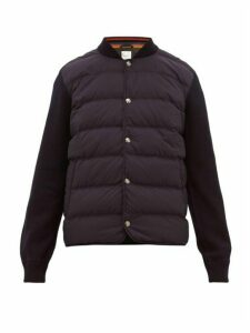 Paul Smith - Padded Shell And Wool Quilted Bomber Jacket - Mens - Navy