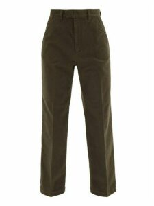 Our Legacy - Chino 24 Moleskin Cotton Chino Trousers - Mens - Dark Green