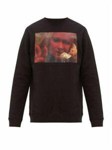 Raf Simons - Picture Print Cotton Jersey Sweatshirt - Mens - Black