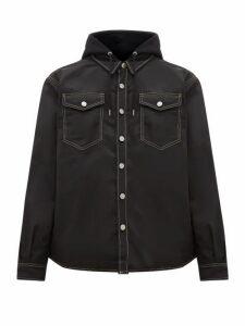 Eytys - Alpha Cali Hooded Twill Overshirt - Mens - Black