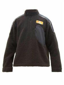 Off-white - Contrast-panel Fleece Sweatshirt - Mens - Black