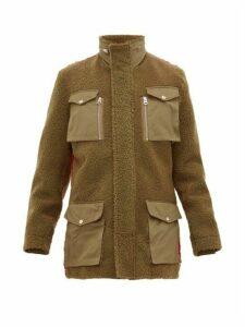 Schott - Contrast Back Shearling Field Jacket - Mens - Green Multi