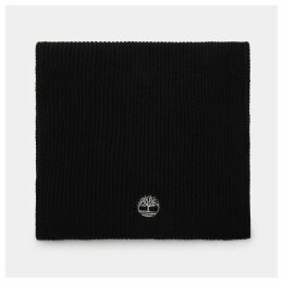 Timberland Ribbed Scarf For Men In Black Black, Size ONE