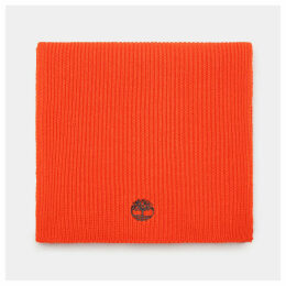 Timberland Ribbed Scarf For Men In Orange Orange, Size ONE