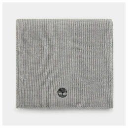 Timberland Ribbed Scarf For Men In Light Grey Light Grey, Size ONE
