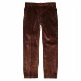 AMI Chestnut Corduroy Straight-leg Trousers