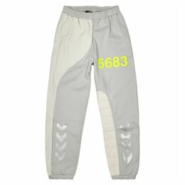 WILLY CHAVARRIA X Hummel Grey Panelled Jersey Sweatpants